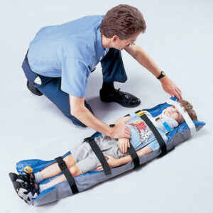 Air-Ambulance-Nepal-Scoop, Spine board, Head Immobilizer, Splints, Vaccum Mattresses